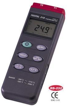 Digital Thermometer  Dual Input RS-232 interface