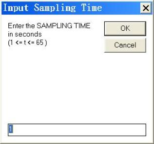 Input sampling time of data logger light meter dlm-536 Tecpel