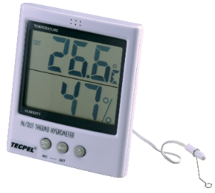 Large Display Indoor / Outdoor Thermo Hygrometer