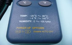 temperature humidity meter specification